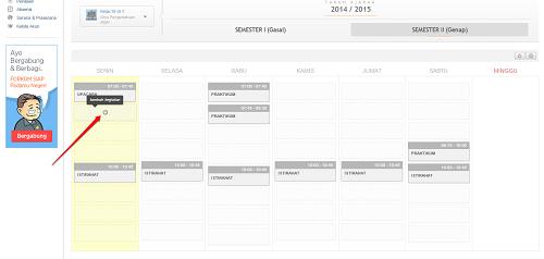 Tambah kegiatan jadwal - Padamu Negeri
