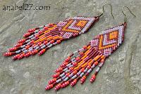 схемы серег из бисера мозаикой peyote patterns native american earrings