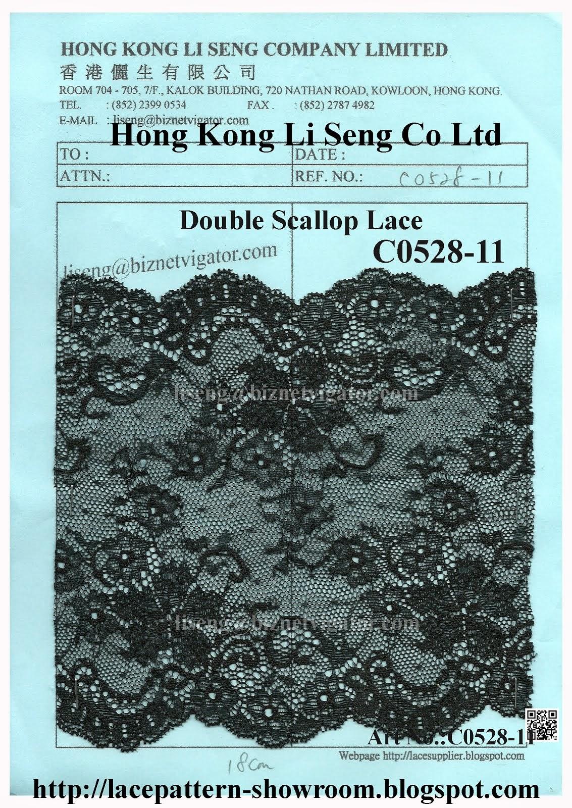 Double Scallop Non-Elastic Lace Trimming Manufacturer - Hong Kong Li Seng Co Ltd