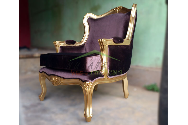Anjani Gold Leaf Chair