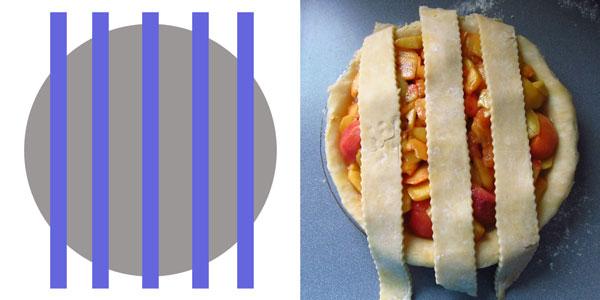 Vertical Pie Strips for Lattice Top