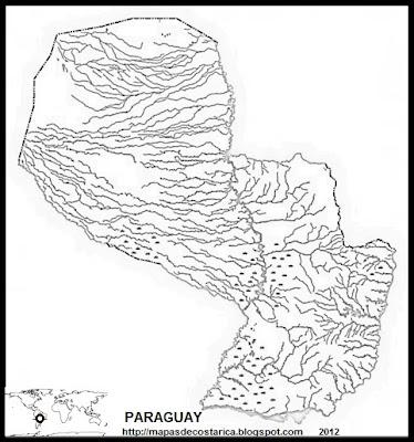 Mapa mudo de PARAGUAY