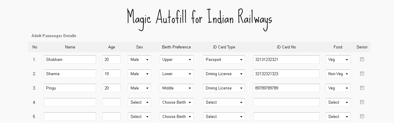 how to make tatkal tickets online