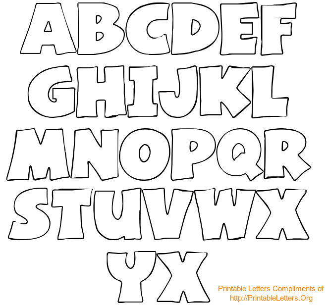 Clean image throughout printable stencil letters