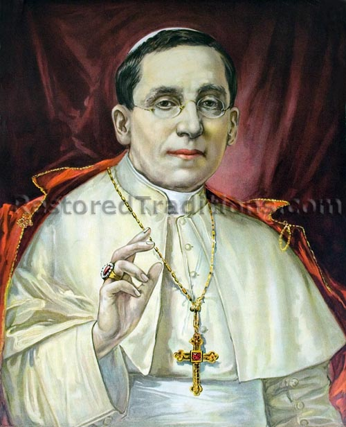 Pius XI z uszminkowanymi wargami
