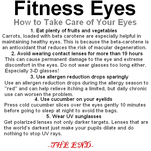 Fitness Eyes: How To Take Care Of Your Eyes?