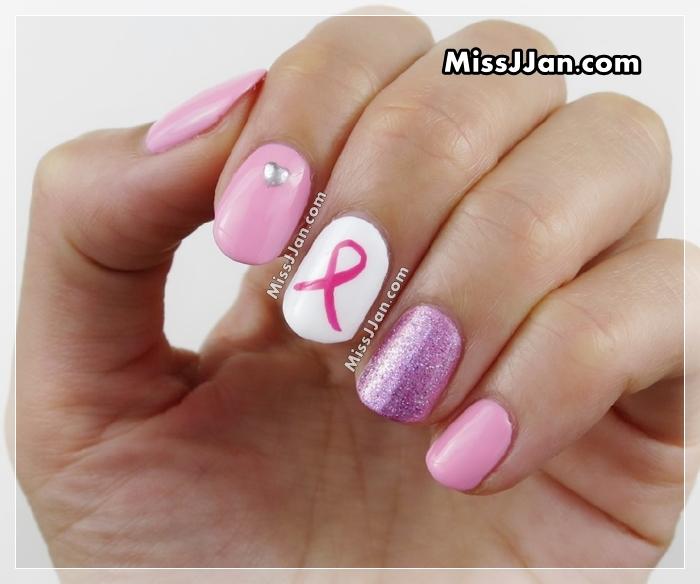 October Nail Art: MissJJan's Beauty Blog ♥: Breast Cancer Awareness Nails