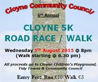Big 5k race in E.Cork...Wed 5th Aug