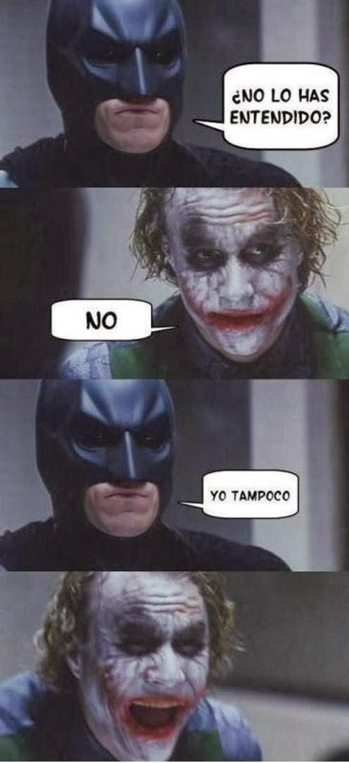 Chiste de Batman: ¿Te sabes el chiste de no y yo tampoco?
