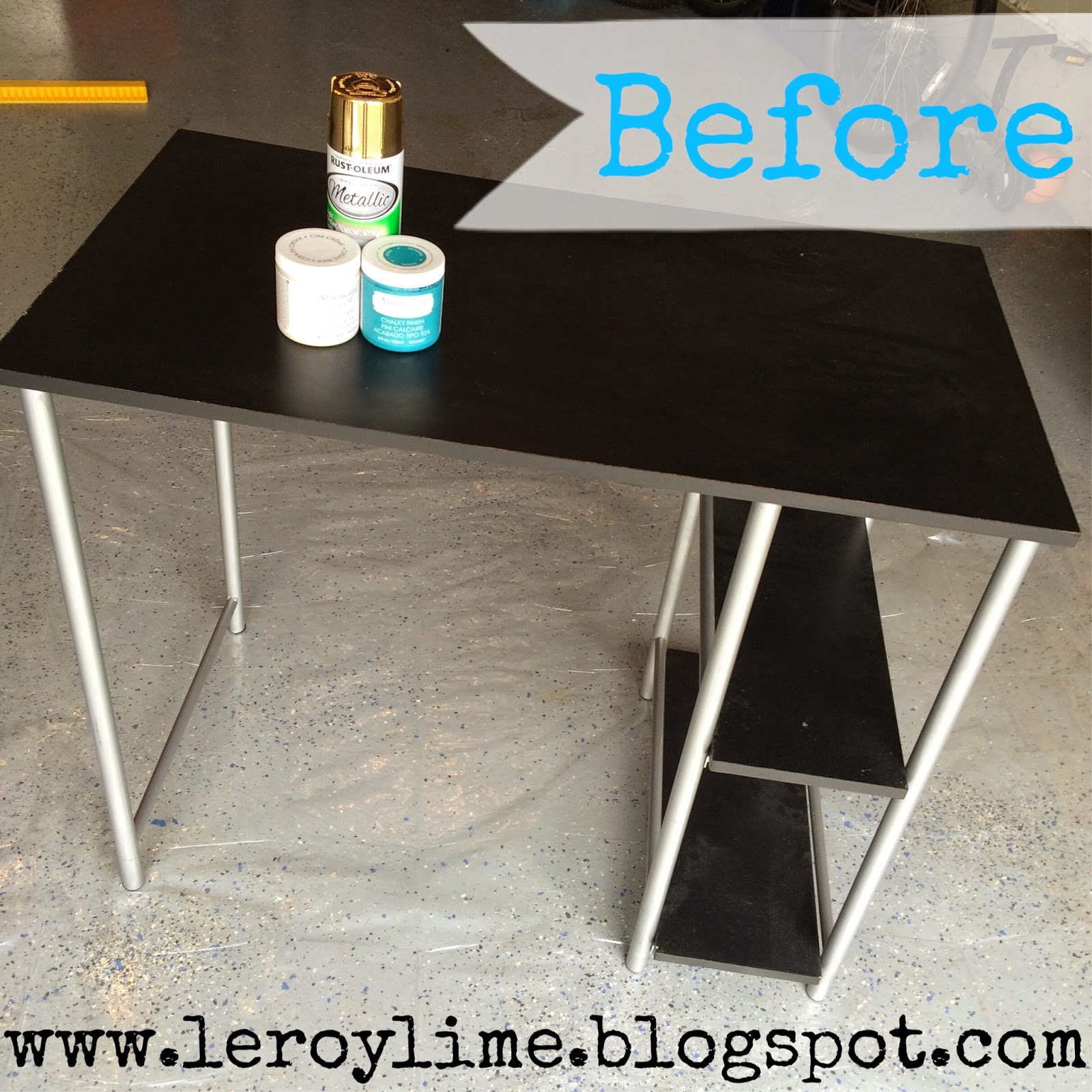 DIY Desk Makeover - Before & After - LeroyLime