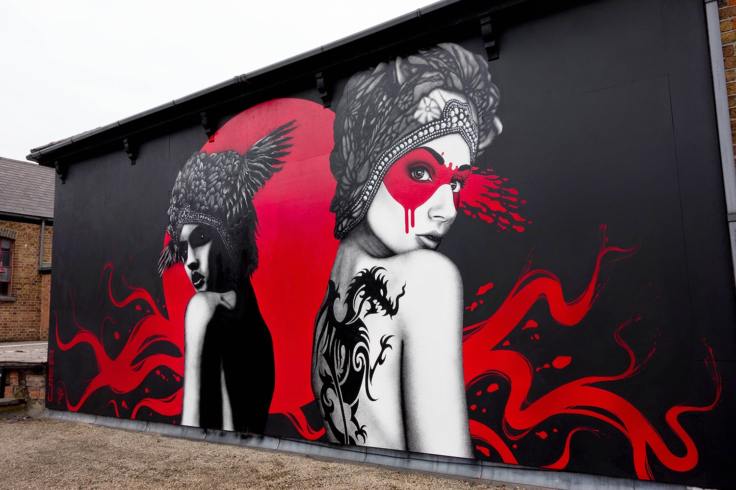 "Our friend Fin DAC recently hooked up with Eelus in West London to work on a new collaboration entitled ""Dark Angel, Deadly Dragon""."