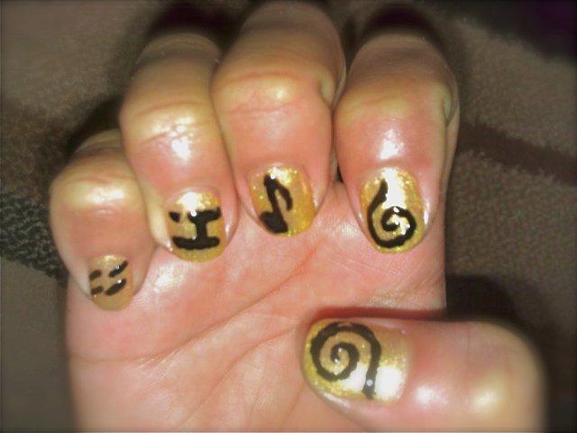 Its All About Nail Arts Naruto Inspired Symbols Nail Art