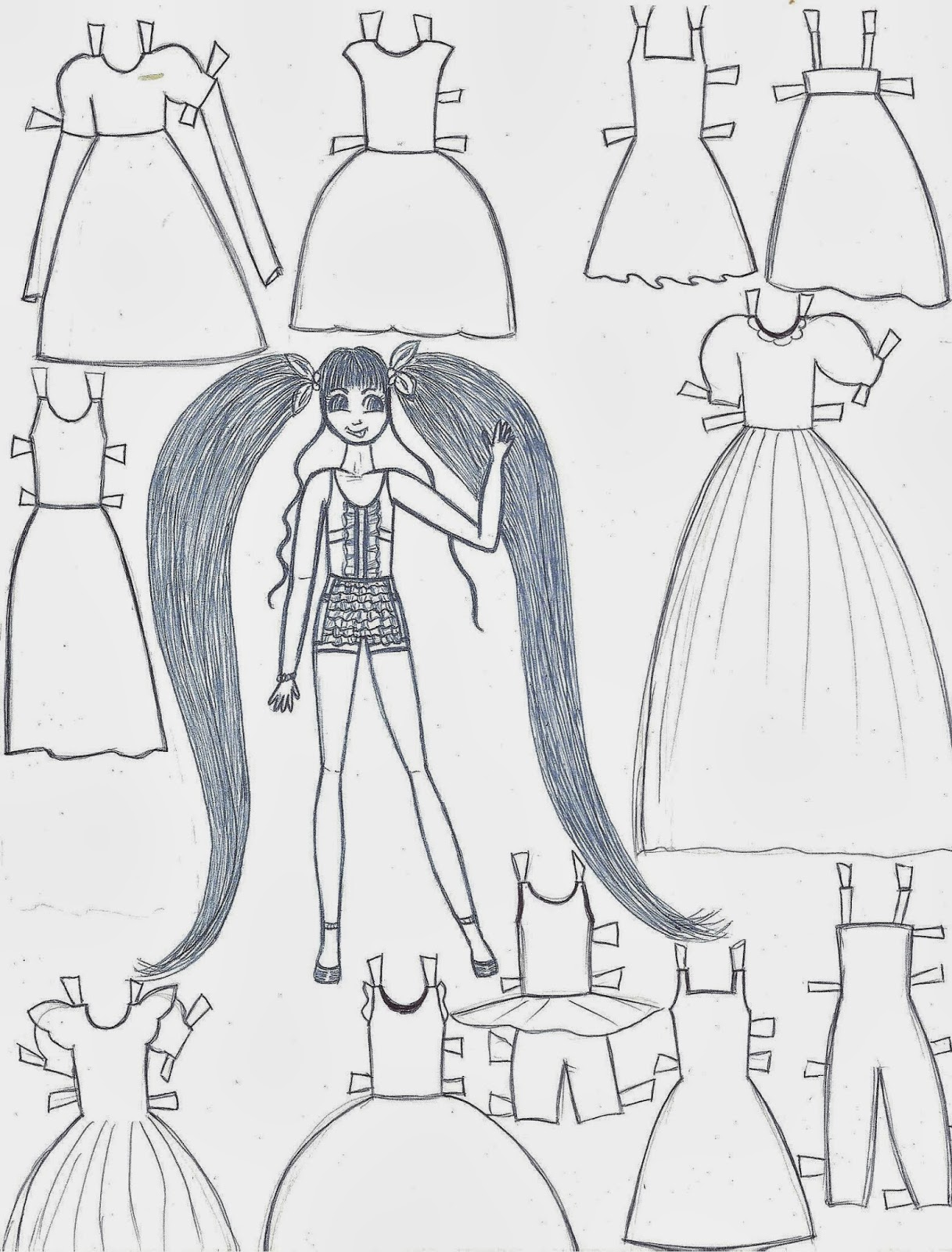 Paper Doll Template | ~PAPER DOLL EVE~