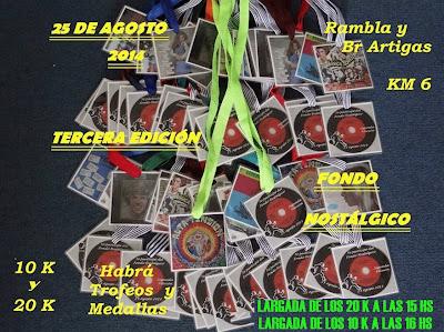 Fondo nostálgico en rambla de Montevideo (20k y 10k, lun 25/ago/2014)
