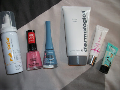 Milkshake Conditioning Whipped Cream, Dermalogica Active Moist, Benefit Porefessional, Elemis Fresh Skin Loving Lips