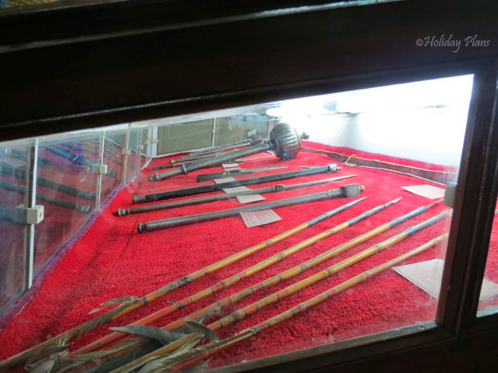 Weapons dating back to royal times in City Palace of Udaipur