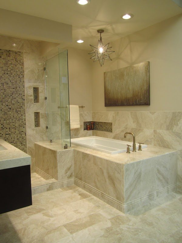 The tile shop design by kirsty new queen beige marble bathroom - Beige bathroom design ...