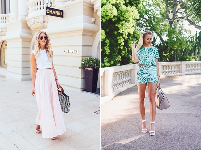 Janni Deler, swedis blogger style, summer streetstyle, pastel look, monaco look, ivy revel playsuit