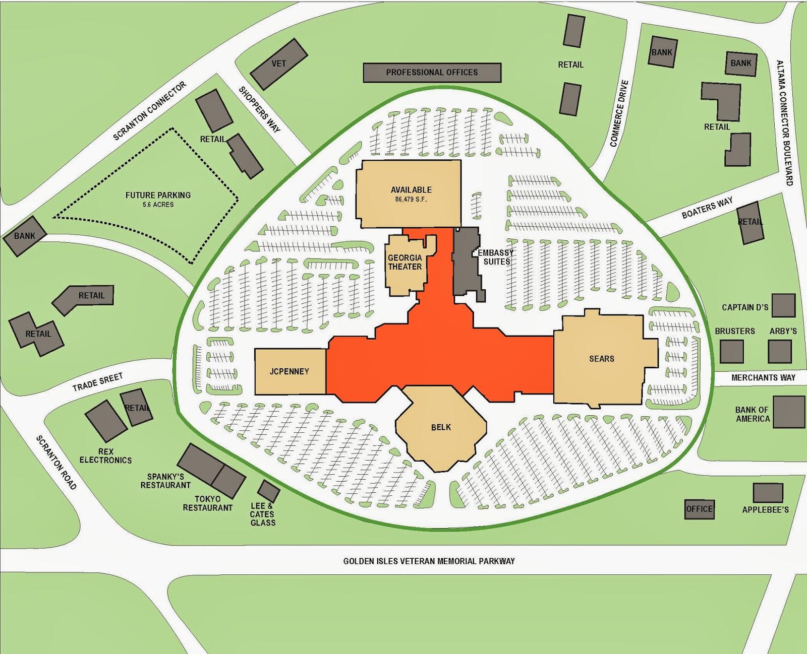 Malltopia September - Map of georgia mall
