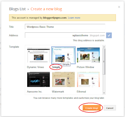Creating a theme from the Simple Blogger template