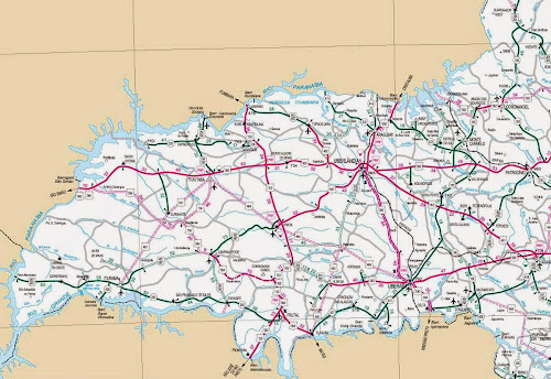 Mapa rodoviário da região de Uberlândia