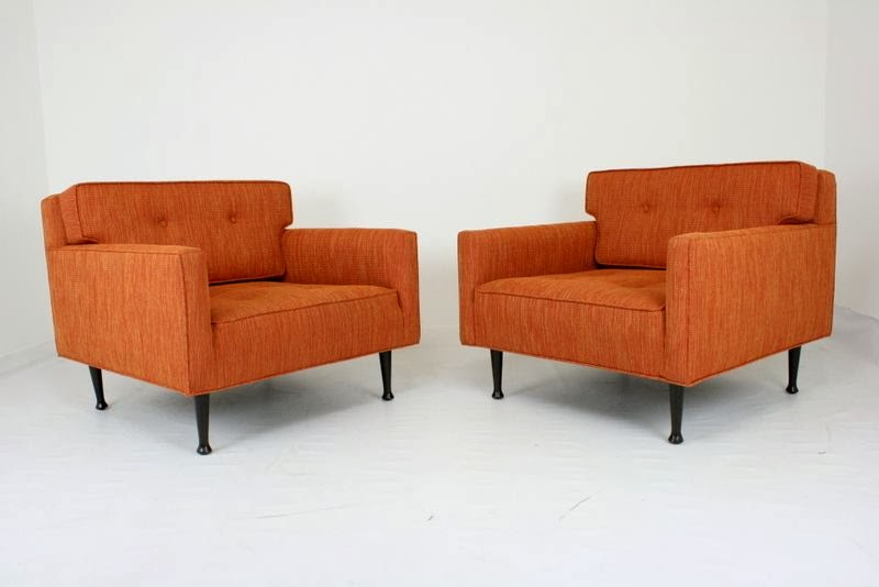 Just In Are These Beautifully Restored Lounge Chairs In The Style Of Milo  Baughman. Theyu0027re Fun And Fresh And Orange. Need I Say More?