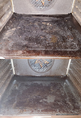 Cleaning the bottom of the oven