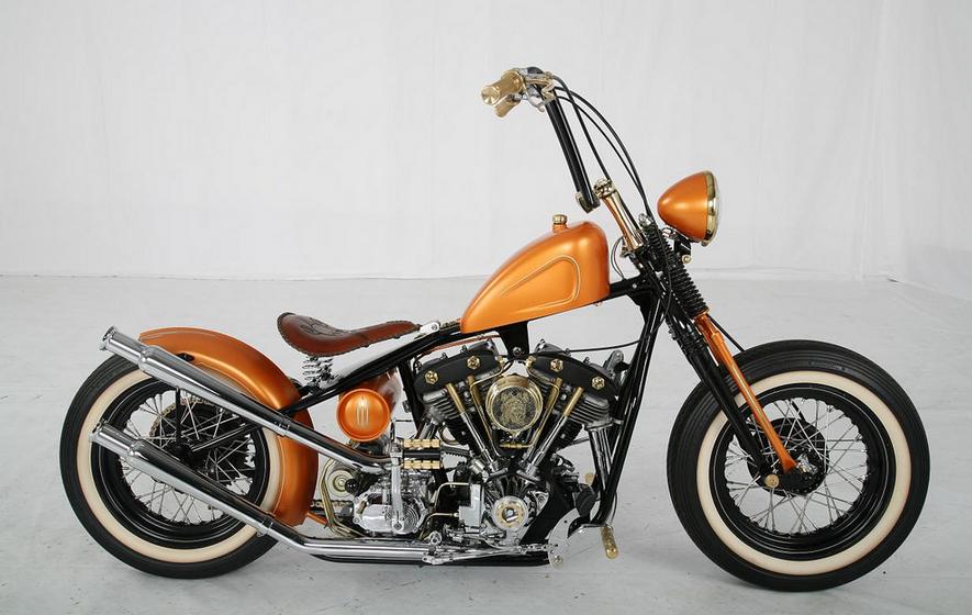 H D Bobber Motorcycle Big on 1974 Sportster Bobber