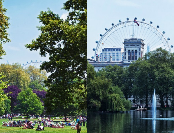 St. James's Park London eye London