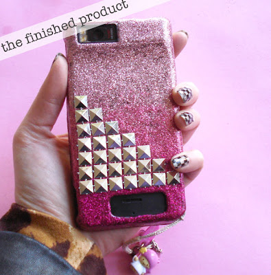 DIY Glitter Cell Phone Case Tutorial