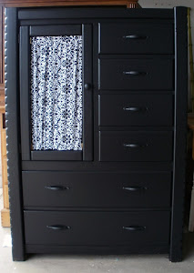 Black Chest of Drawers  *SOLD*