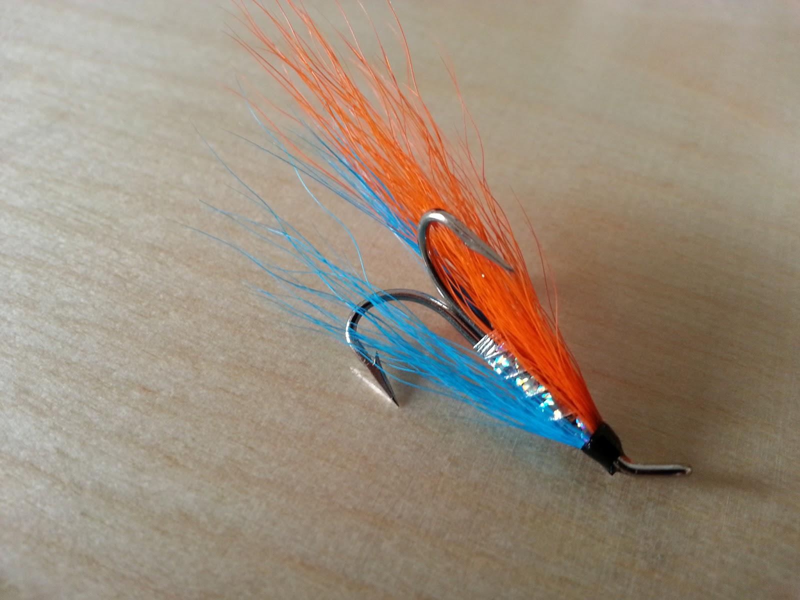 Salmon fly orange bourach salmon fly for Salon fly