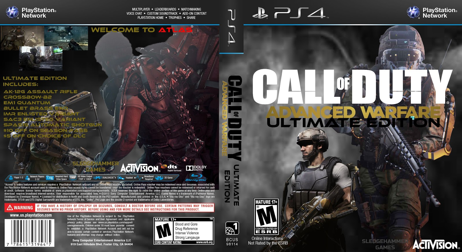 Capa Call Of Duty Advanced Warfare Ultimate Edition PS4