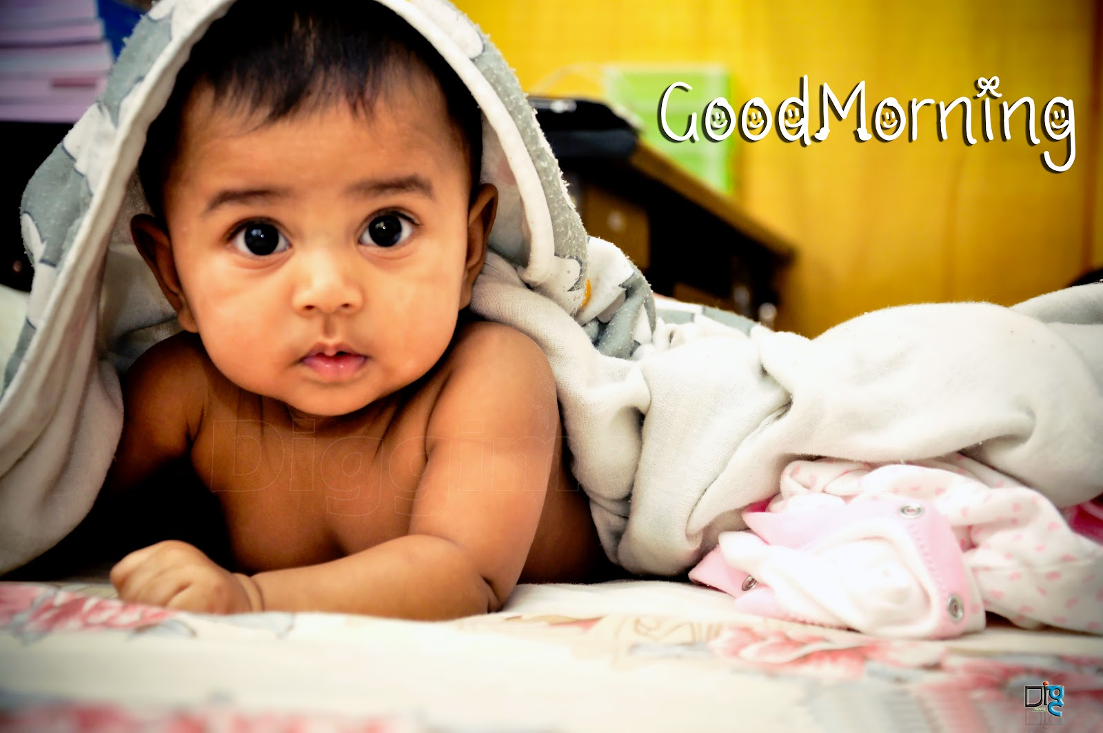 Good morning baby cute greetings free scraps and wallpapers