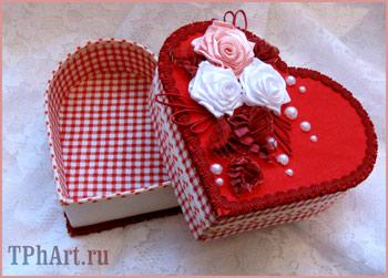 коробка-сердце своими руками