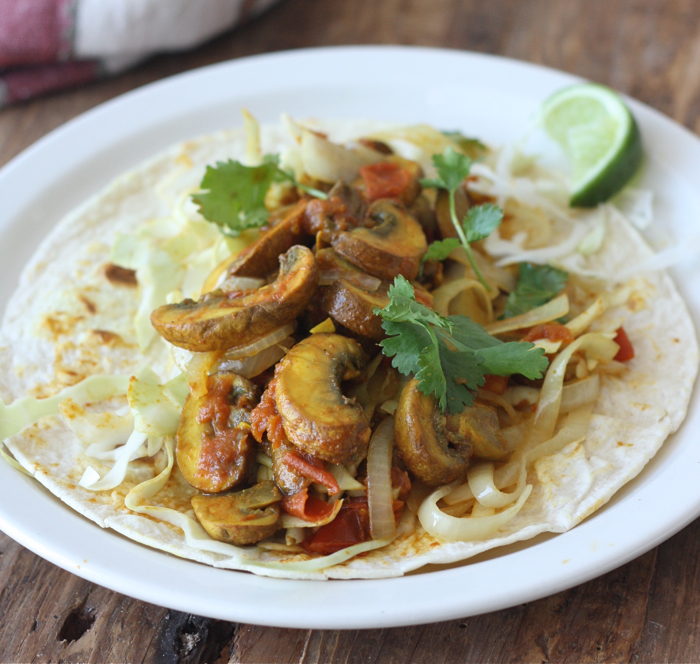 Mushroom Masala & Sweet Onion Wrap by SeasonWithSpice.com