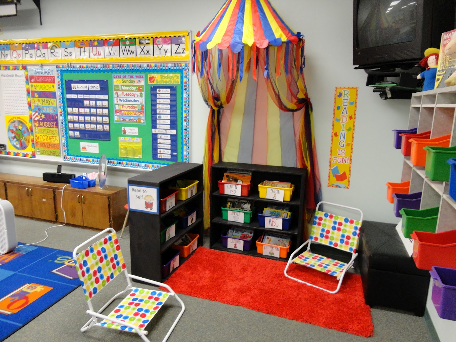 Classroom Library Ideas ~ Welcome to the circus my big classroom reveal yeehaw