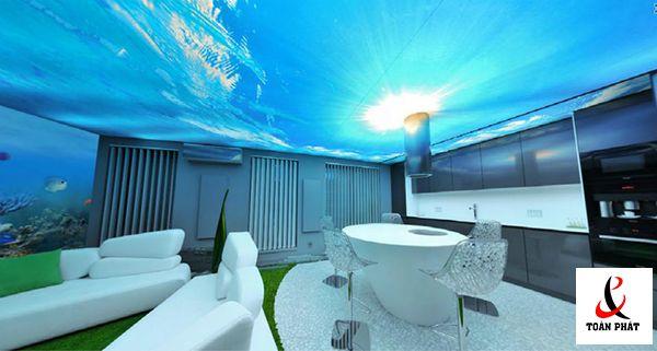 có nên sử dụng trần xuyên sáng trong thiết kế trần nhà 5