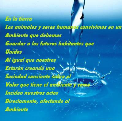 acrostico sobre el agua