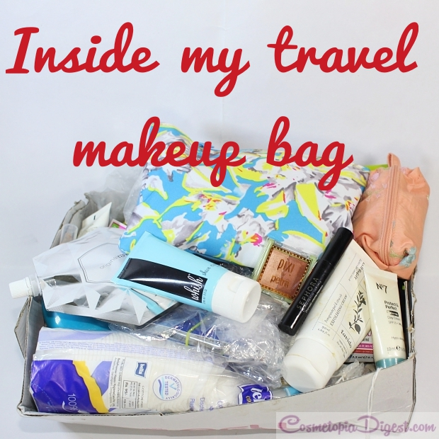Packing makeup and skincare for a six-week trip