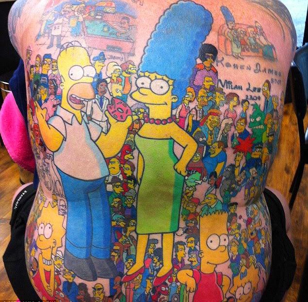 Tatuaje personajes de Los Simpson