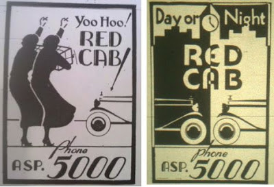 Red Cab ads from the 1939-1941