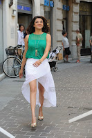 Kajal Agarwal looks Stunning in beautiful Smile Green Top and White Skirt