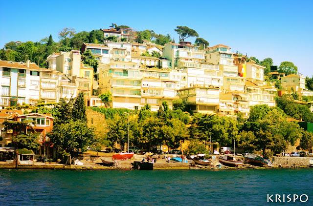 casas en ladera al lado del bósforo en Turquia