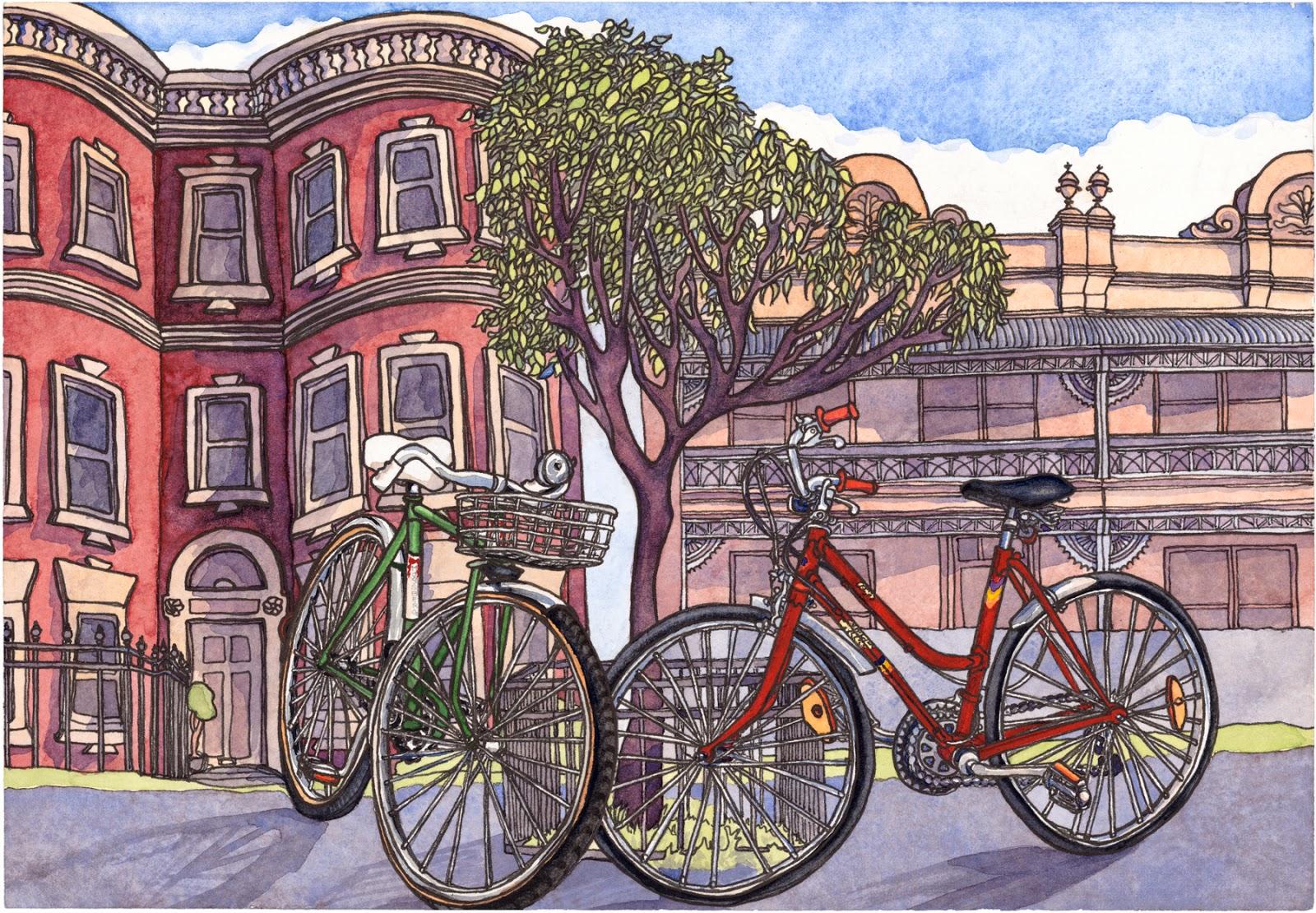 Bikes Quincy Laura Quincy Jones Art Gallery