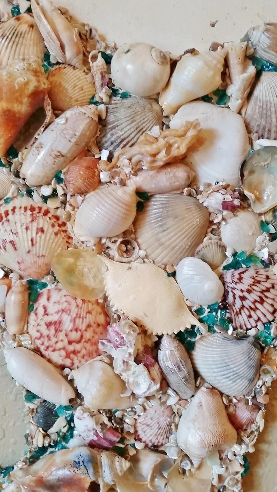 seashell large mermaid art