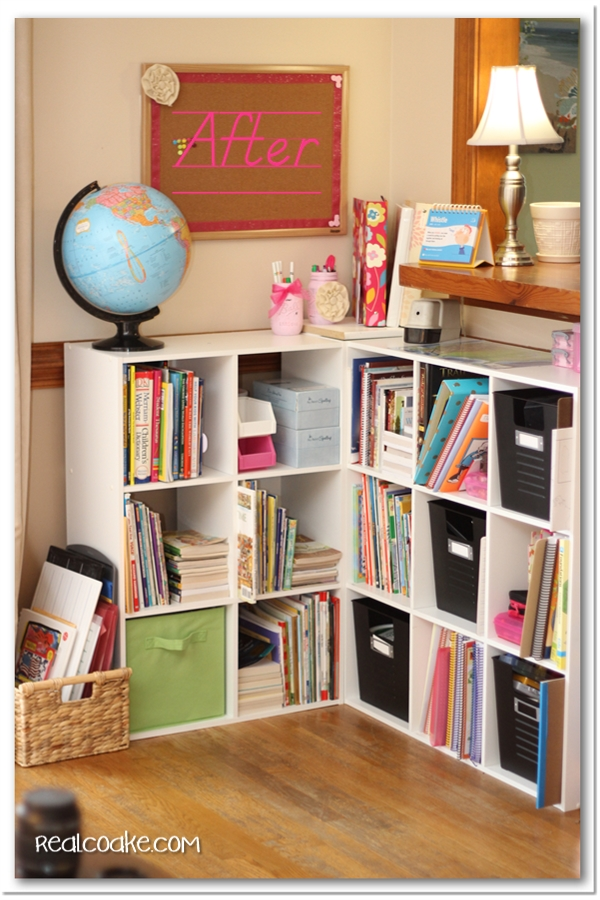 Charmant Homeschool Organization Ideas For Organizing All The Books And Supplies In  Shelves In The Living Room