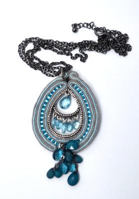 sutasz naszyjnik wisior soutache pendant necklace 2