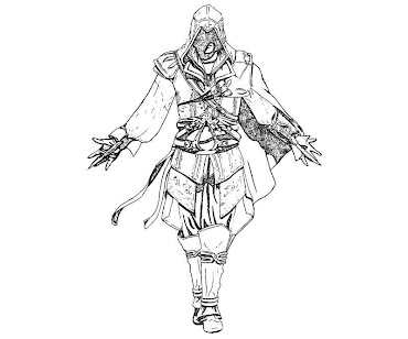 #6 Assassin's Creed Coloring Page
