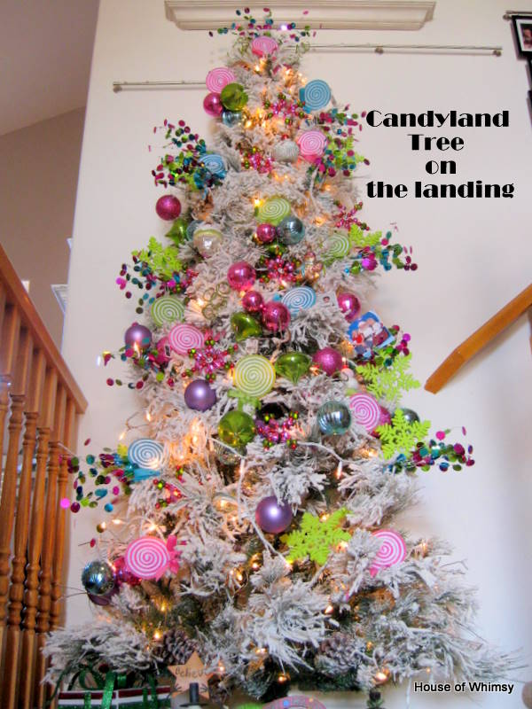 christmas decorating 2011 ive always wanted to do a candyland tree thanks to target and walmart i was able to do it pretty cheaply this year - Candyland Christmas Decorations